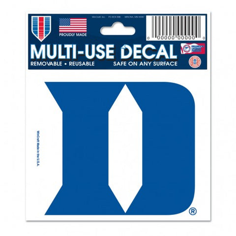 "Duke Blue Devils 3"" x 4"" Multi Use Decal Window, Car or Laptop!"