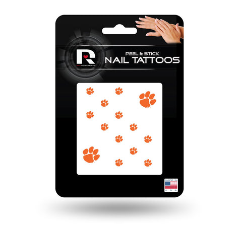 Clemson Tigers Nail Tattoos Peel & Stick NEW! Free Shipping NCAA