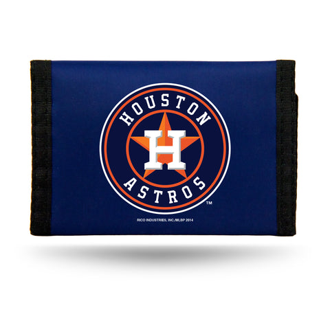 Houston Astros Nylon Trifold Wallet NEW! MLB
