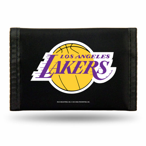Los Angeles Lakers Nylon Trifold Wallet NEW! NBA