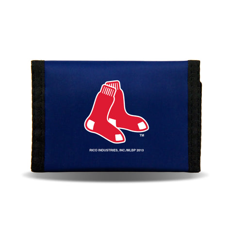 Boston Red Sox Nylon Trifold Wallet NEW! MLB