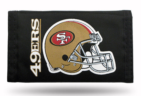 San Francisco 49ers Nylon Trifold Wallet NEW! NFL