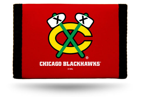 Chicago Blackhawks Nylon Trifold Wallet NEW! NHL
