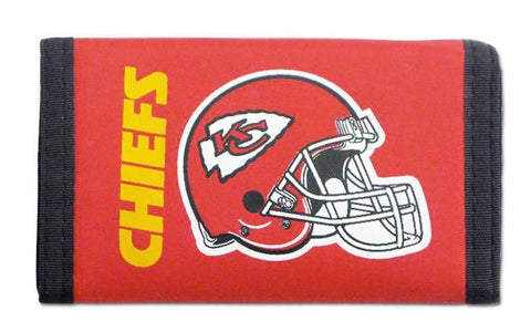 Kansas City Chiefs Nylon Trifold Wallet NEW! NFL