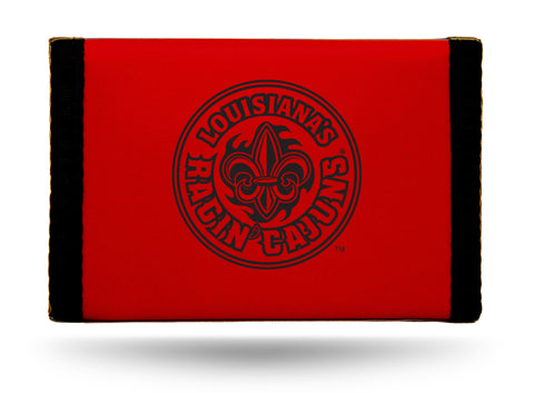 Louisiana Ragin Cajuns Nylon Trifold Wallet NEW! NCAA