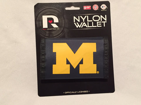 Michigan Wolverines Nylon Trifold Wallet NEW! NCAA