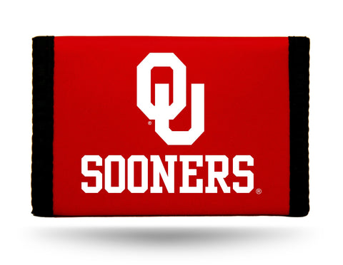Oklahoma Sooners Nylon Trifold Wallet NEW! NCAA