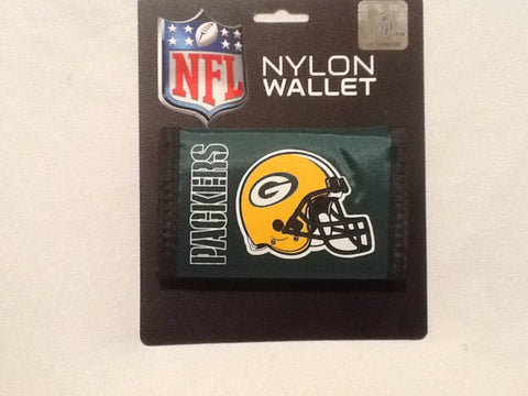 Green Bay Packers Nylon Trifold Wallet NEW! NFL