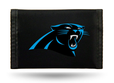 Carolina Panthers Nylon Trifold Wallet NEW! NFL
