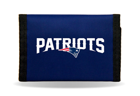 New England Patriots Nylon Trifold Wallet NEW! NFL