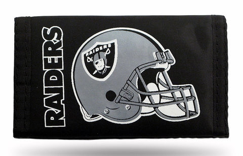 Oakland Raiders Nylon Trifold Wallet NEW! NFL
