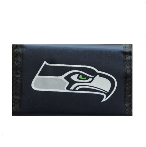 Seattle Seahawks Nylon Trifold Wallet NEW! NFL