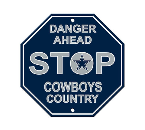 "Dallas Cowboys Stop Sign NEW! 12""X12"" ""Danger Ahead"" Man Cave NFL"