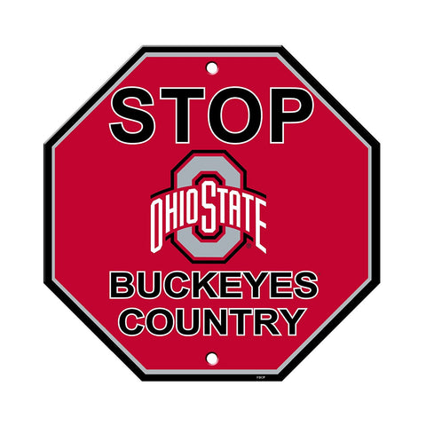 "Ohio State Buckeyes Stop Sign NEW! 12""X12"" ""Buckeyes Country"" Man Cave"