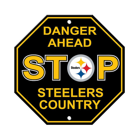 "Pittsburgh Steelers Stop Sign NEW! 12""X12"" ""Steelers Country"" Man Cave"