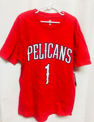New Orleans Pelicans Zion Williamson #1 Youth Red Shirt Sizes S-XL Free Shipping