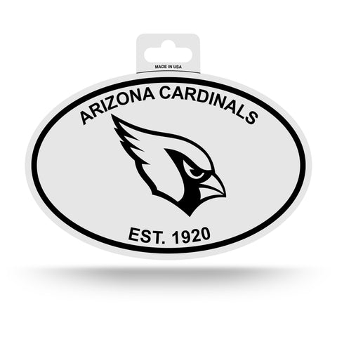 Arizona Cardinals Oval Decal Sticker NEW!! 3 x 5 Inches Free Shipping Black & White