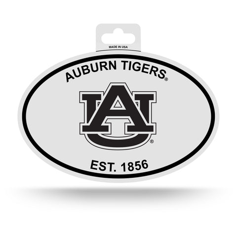 Auburn Tigers Oval Decal Sticker NEW!! 3 x 5 Inches Free Shipping Black & White