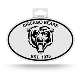 Chicago Bears Oval Decal Sticker NEW!! 3 x 5 Inches Free Shipping Black & White