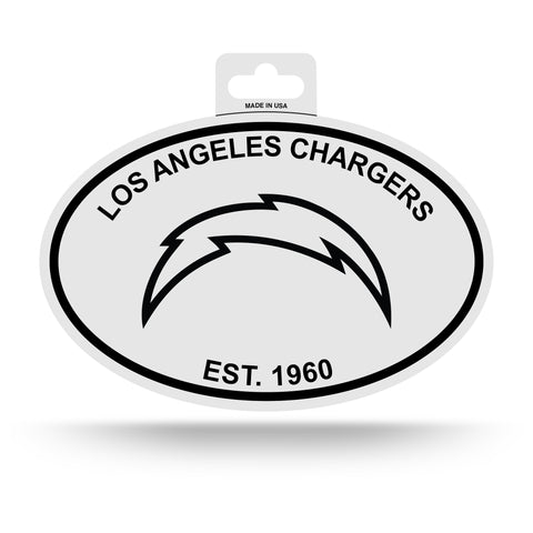 Los Angeles Chargers Oval Decal Sticker NEW!! 3 x 5 Inches Free Shipping Black & White