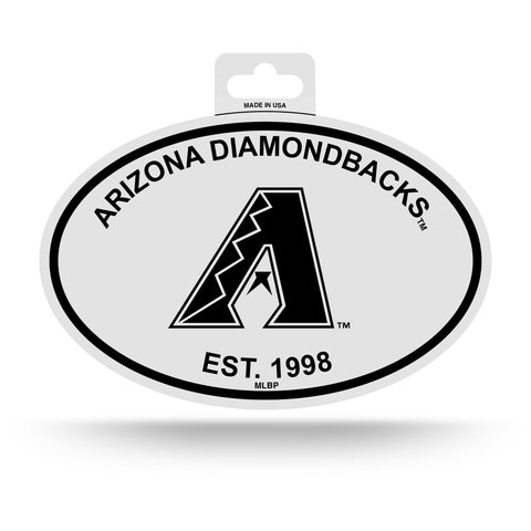 Arizona Diamondbacks Oval Decal Sticker NEW!! 3 x 5 Inches Free Shipping Black & White