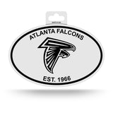 Atlanta Falcons Oval Decal Sticker NEW!! 3 x 5 Inches Free Shipping Black & White