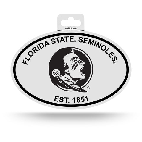 Florida State Seminoles Oval Decal Sticker NEW!! 3 x 5 Inches Free Shipping Black & White