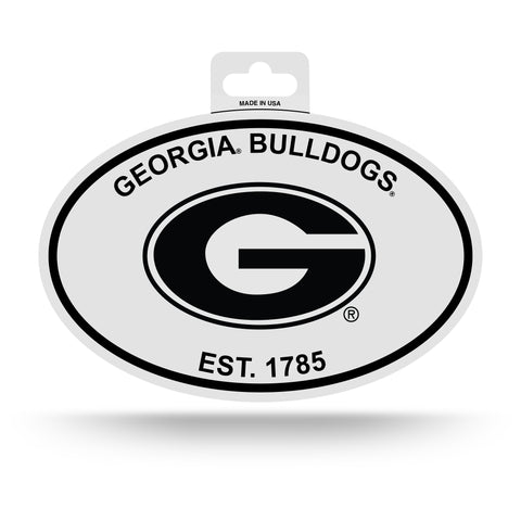 Georgia Bulldogs Oval Decal Sticker NEW!! 3 x 5 Inches Free Shipping Black & White