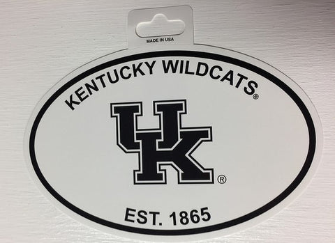 Kentucky Wildcats Oval Decal Sticker NEW!! 3 x 5 Inches Free Shipping Black & White