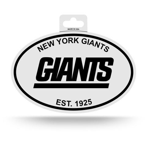 New York Giants Oval Decal Sticker NEW!! 3 x 5 Inches Free Shipping Black & White