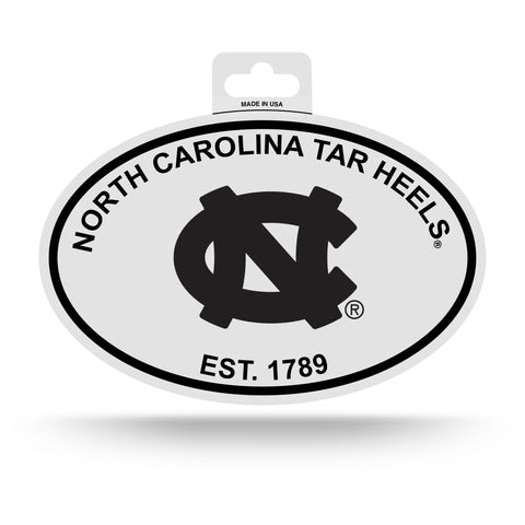 North Carolina Tar Heels Oval Decal Sticker NEW!! 3 x 5 Inches Free Shipping Black & White