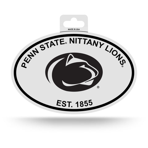 Penn State Nittany Lions Oval Decal Sticker NEW!! 3 x 5 Inches Free Shipping Black & White