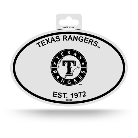 Texas Rangers Oval Decal Sticker NEW!! 3 x 5 Inches Free Shipping Black & White