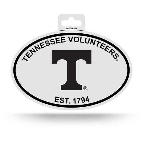 Tennessee Volunteers Oval Decal Sticker NEW!! 3 x 5 Inches Free Shipping Black & White