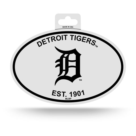 Detroit Tigers Oval Decal Sticker NEW!! 3 x 5 Inches Free Shipping Black & White