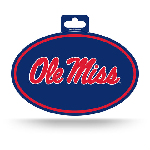 Ole Miss Rebels Oval Decal Full Color Sticker NEW!! 3 x 5 Inches Free Shipping