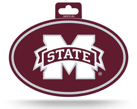 Mississippi State Bulldogs Oval Decal Full Color Sticker NEW!! 3 x 5 Inches Free Shipping