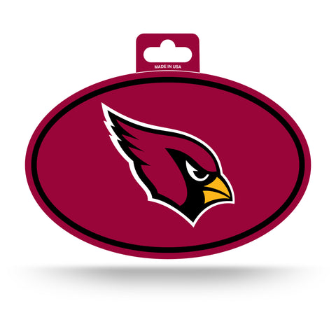Arizona Cardinals Oval Decal Full Color Sticker NEW!! 3 x 5 Inches Free Shipping