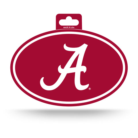 Alabama Crimson Tide Oval Decal Full Color Sticker NEW!! 3 x 5 Inches Free Shipping