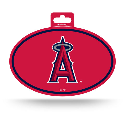 Los Angeles Angels Oval Decal Full Color Sticker NEW!! 3 x 5 Inches Free Shipping