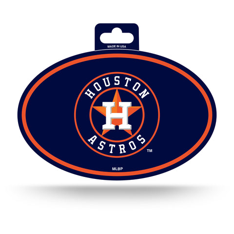 Houston Astros Oval Decal Full Color Sticker NEW!! 3 x 5 Inches Free Shipping