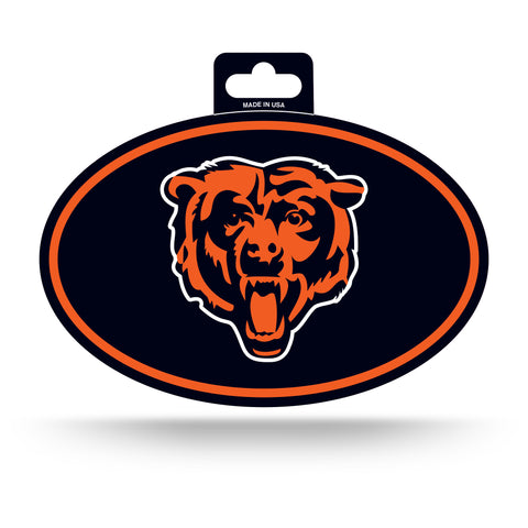 Chicago Bears Oval Decal Full Color Sticker NEW!! 3 x 5 Inches Free Shipping