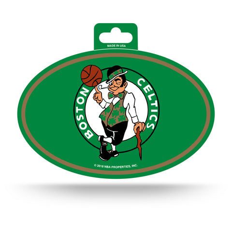 Boston Celtics Oval Decal Full Color Sticker NEW!! 3 x 5 Inches Free Shipping