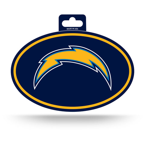 Los Angeles Chargers Oval Decal Full Color Sticker NEW!! 3 x 5 Inches Free Shipping