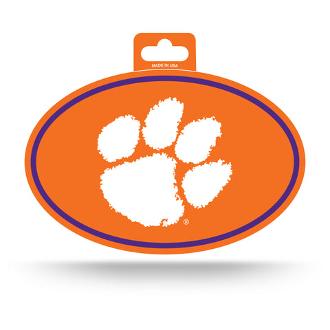 Clemson Tigers Oval Decal Full Color Sticker NEW!! 3 x 5 Inches Free Shipping