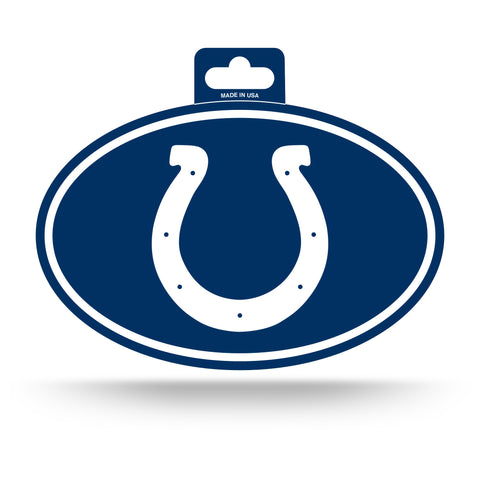 Indianapolis Colts Oval Decal Full Color Sticker NEW!! 3 x 5 Inches Free Shipping
