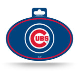 Chicago Cubs Oval Decal Full Color Sticker NEW!! 3 x 5 Inches Free Shipping