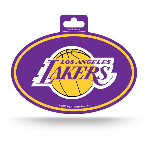 Los Angeles Lakers Oval Decal Full Color Sticker NEW!! 3 x 5 Inches Free Shipping
