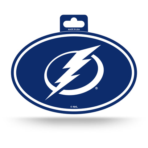 Tampa Bay Lightning Oval Decal Full Color Sticker NEW!! 3 x 5 Inches Free Shipping