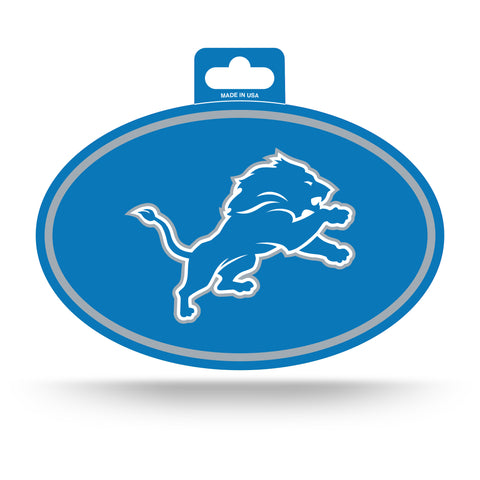 Detroit Lions Oval Decal Full Color Sticker NEW!! 3 x 5 Inches Free Shipping
